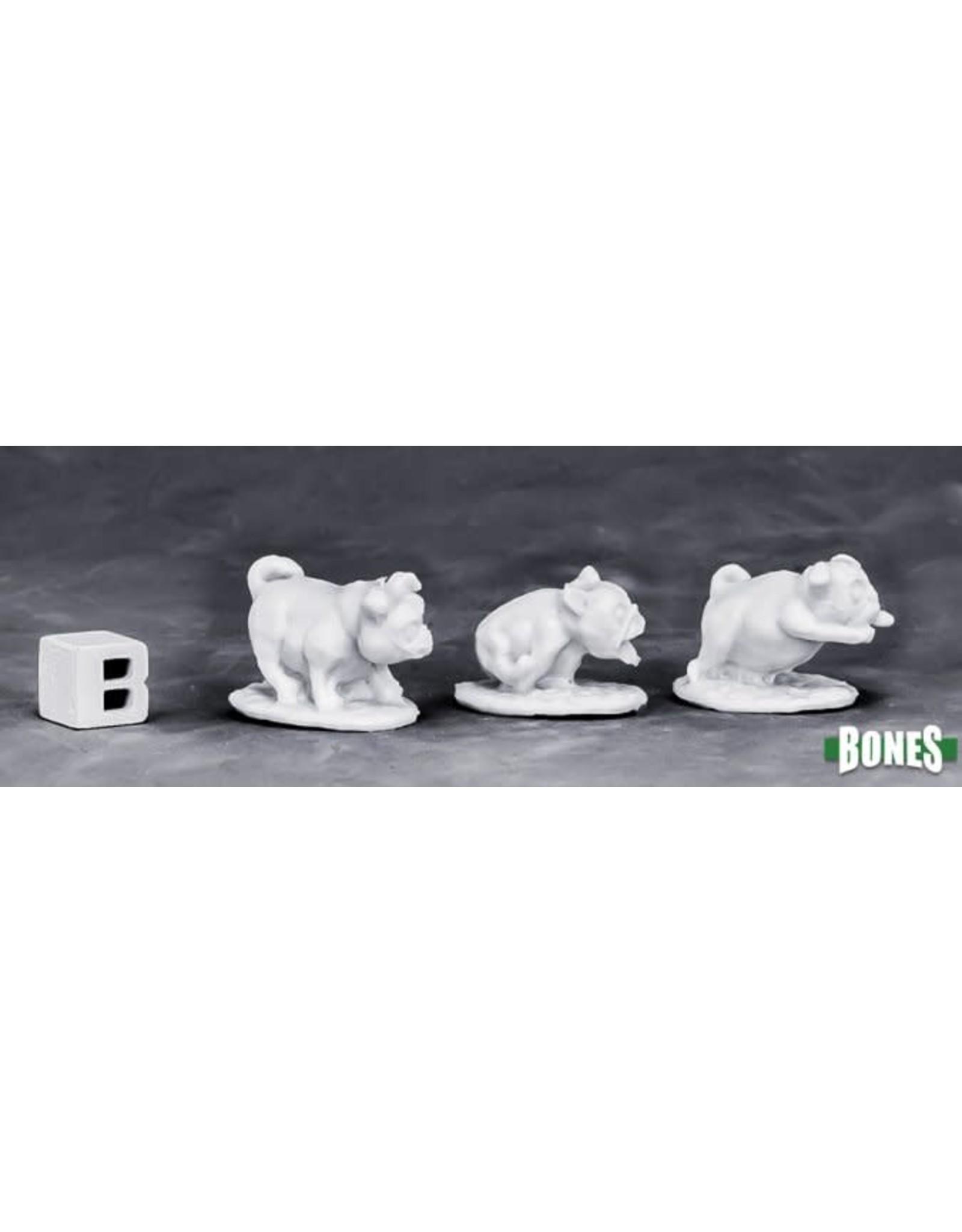 Reaper Miniatures Bones War Pugs (3)
