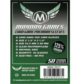 Mayday Games Sleeves: Premium Card Sleeves 63.5mm x 88mm Dark Green (50)