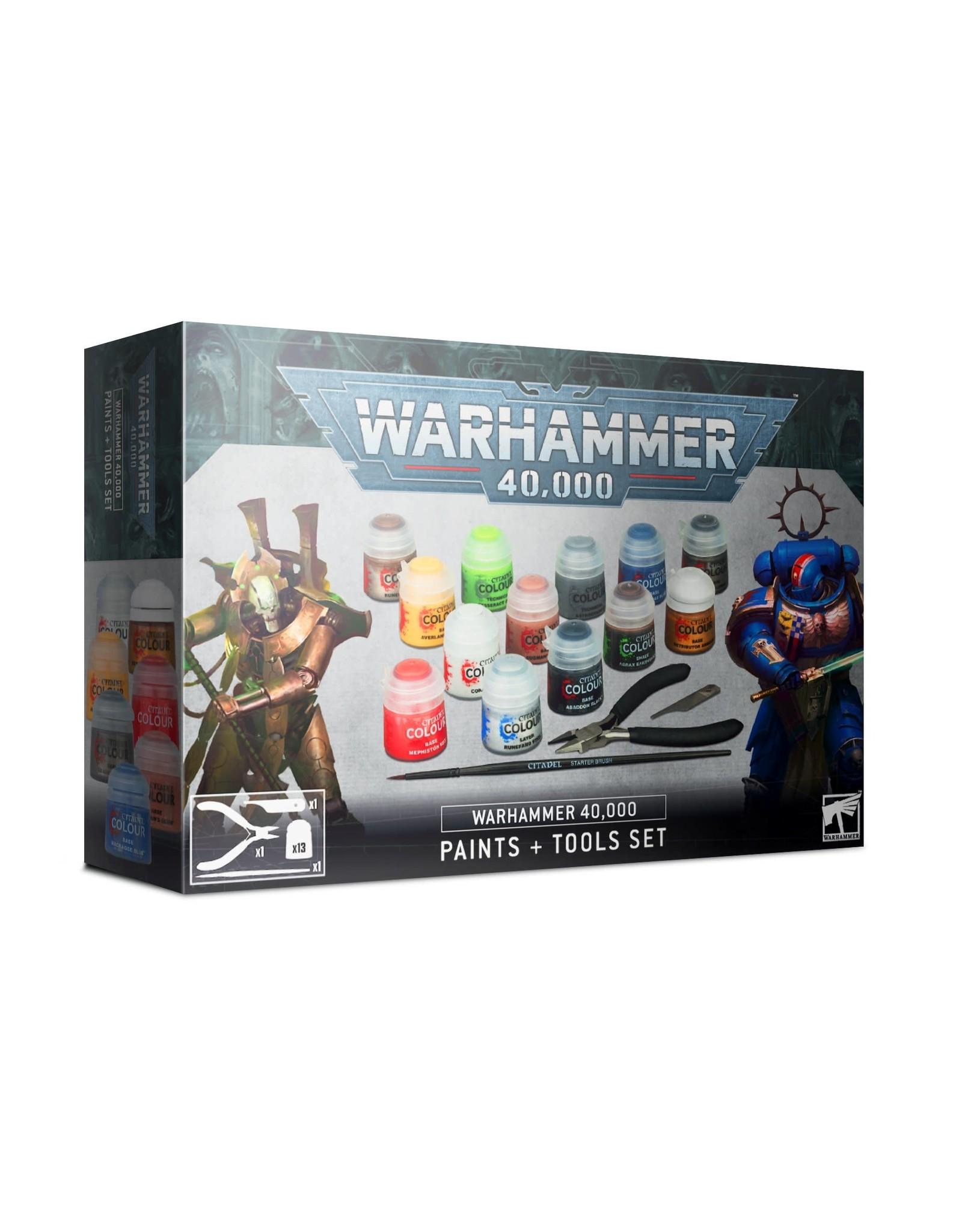 Games Workshop 40K PAINTS + TOOLS ENG/SPA/PORT/LATV/ROM