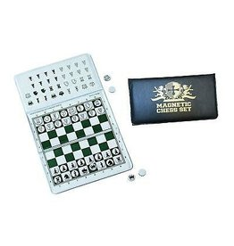 Wood Expressions Magnetic Checkbook Chess Set