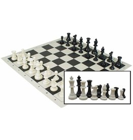 Wood Expressions Roll-up Travel Chess Set in Carry Tube with Shoulder Strap