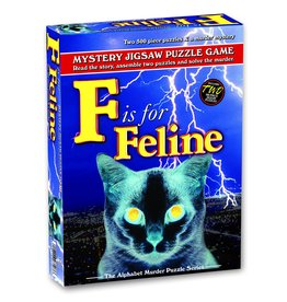 Wood Expressions F is for Feline Mystery Jigsaw Puzzle