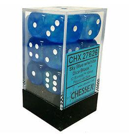 Chessex Borealis 16MM Sky Blue w/ White (12)