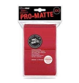 Ultra Pro DP: Pro-Matte Red (100)