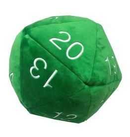 "Ultra Pro Jumbo D20  Plush Green w/ White 10"""