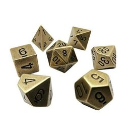 Chessex Metal Poly (7) Old Brass