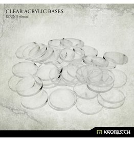 Kromlech Clear 40mm Bases (25)