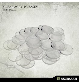 Kromlech Clear 32mm Bases (40)