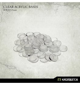 Kromlech Circular Clear Miniature Bases 25mm (50)
