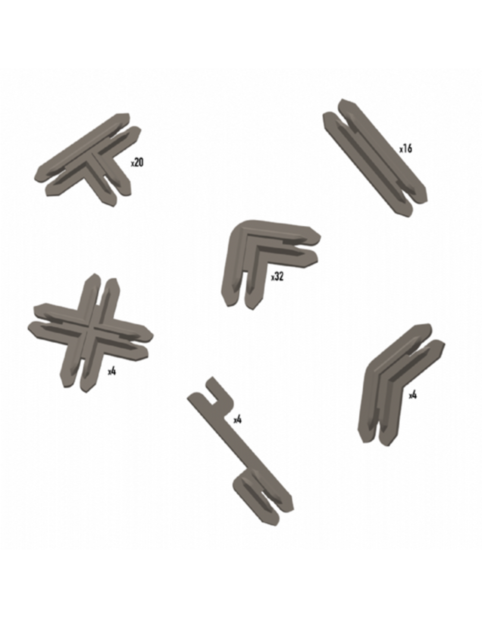 Battle Systems Battle Systems Terrain Clips - Brown