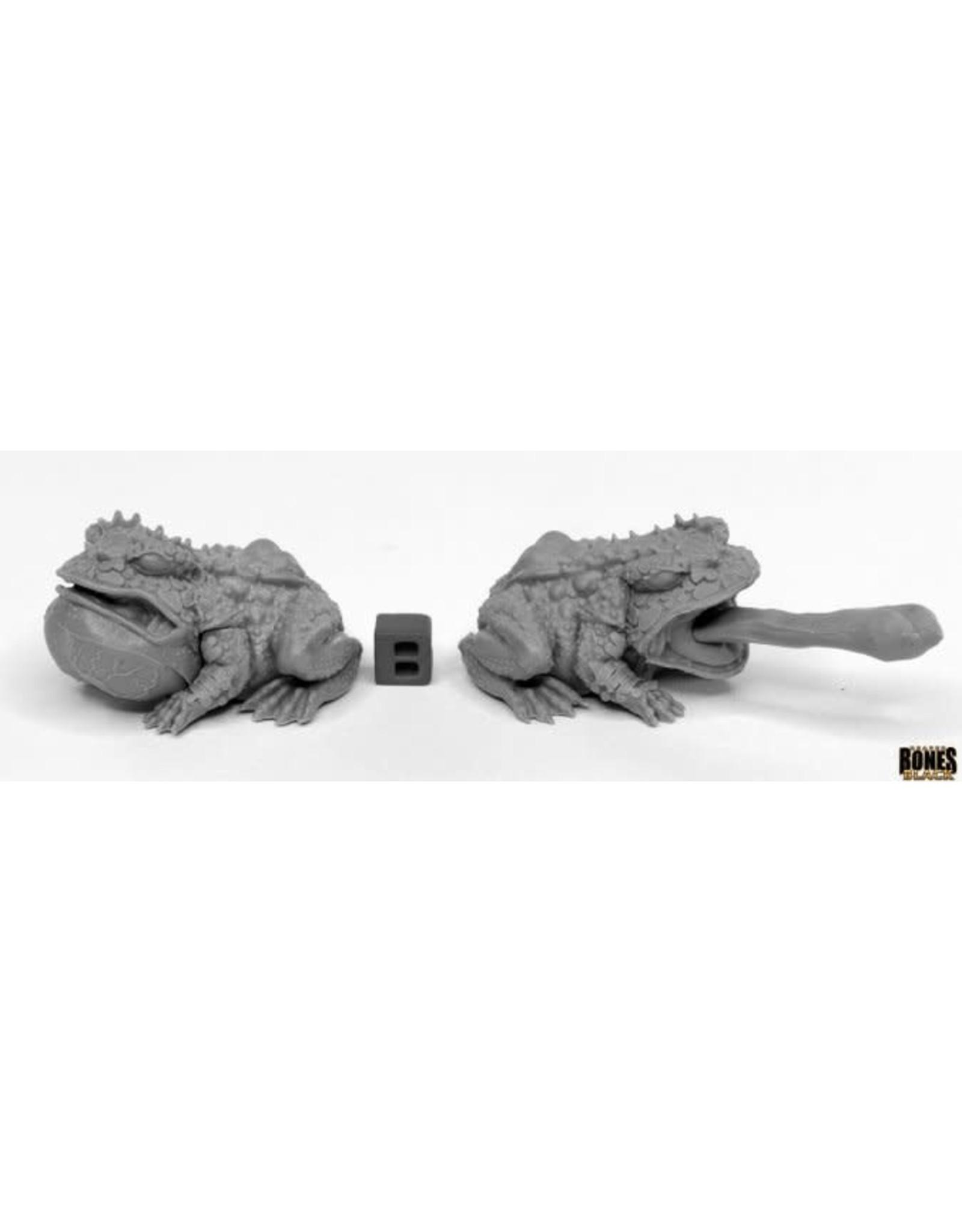 Reaper Miniatures Bones Black: Giant Frogs
