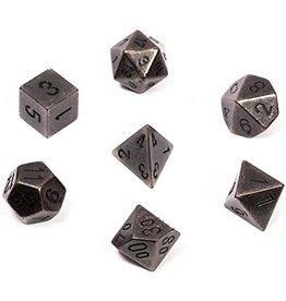 Chessex Solid Metal Poly (7) Dark Metal