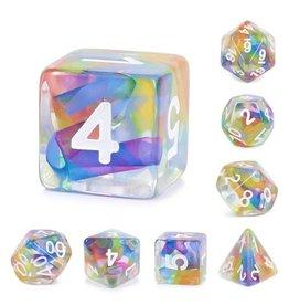 HD Dice, LLC. Rainbow Ribbon Poly Dice (7)