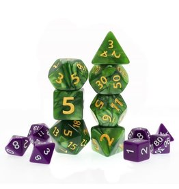 HD Dice, LLC. Giant Pearlescent Green Poly Dice (7)