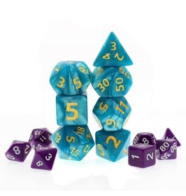 HD Dice, LLC. Giant Pearlescent Blue Poly Dice (7)