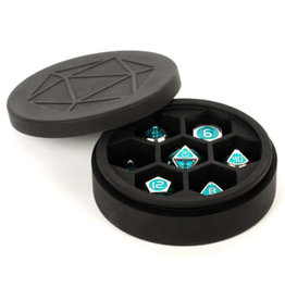 Metallic Dice Games Round Silicone Dice Case
