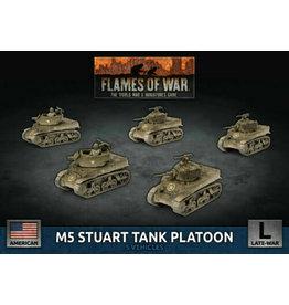 Battlefront Miniatures M5 Stuart Light Tank Platoon (x5 Plastic)