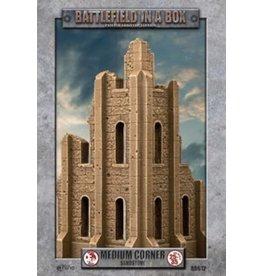 Gale Force Nine Gothic Battlefields - Medium Corner - Sandstone (x1) - 30mm