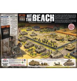 "Battlefront Miniatures ""Hit The Beach"" Army Set (German & American 11x Tanks, 2x Guns, 96x figs - Plastic)"