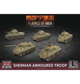 Battlefront Miniatures Sherman Armoured Troop  (x5 Plastic)