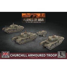 Battlefront Miniatures Churchill Armoured Squadron (x3 Plastic)
