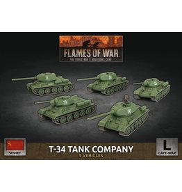 Battlefront Miniatures T-34 Tank Company (x5 Plastic)