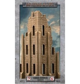 Battlefront Miniatures Gothic Battlefields - Large Corner - Sandstone (x1) - 30mm