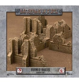 Gale Force Nine Gothic Battlefields - Ruined Walls - Sandstone (x5) - 30mm