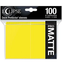 Ultra Pro Eclipse Matte Standard Sleeves: Lemon Yellow (100)