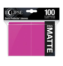 Ultra Pro Eclipse Matte Standard Sleeves: Hot Pink (100)