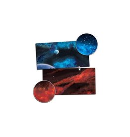 Gale Force Nine Gaming Mat 3'x6' - Crimson Gas Giant / Frozen Star System