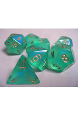 Chessex Borealis Poly Light Green/Gold (7)