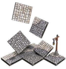 Wizkids WarLock Tiles: Town & Village - Town Square