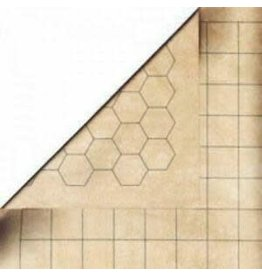 Chessex Battlemat: 1.5in Reversible Squares-Hexes (23.5in x 26in Playing Surface)
