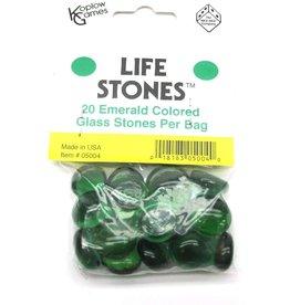 Koplow Games Life Stones: Glass Stones Emerald (20)