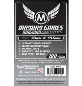 Mayday Games Sleeves: Magnum Silver Sleeves 70mm x 110mm (Lost Cities)(100)