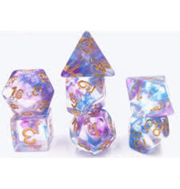 HD Dice, LLC. Pearl Swirl Purple/Blue Poly Dice (7)