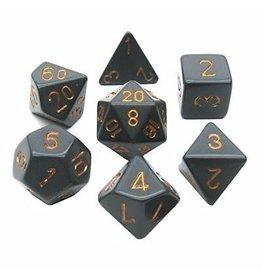 Chessex Opaque: Poly Dark Grey/Copper (7)