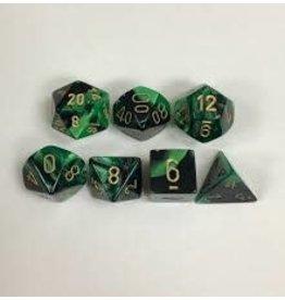 Chessex Gemini 4: Poly Black Green/Gold (7)