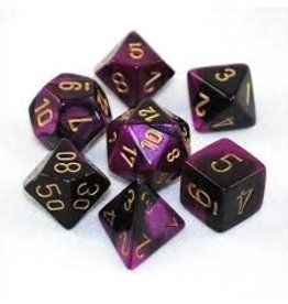 Chessex Gemini 4: Poly Black Purple/Gold (7)