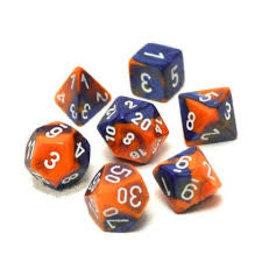Chessex Gemini 6: Poly Blue Orange/White (7)