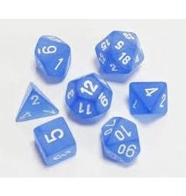 Chessex Frosted: Poly Blue/White Set (7)