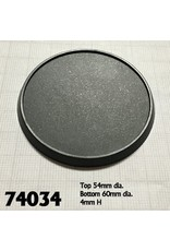 Reaper Miniatures 60mm Round Lipped Bases Plastic