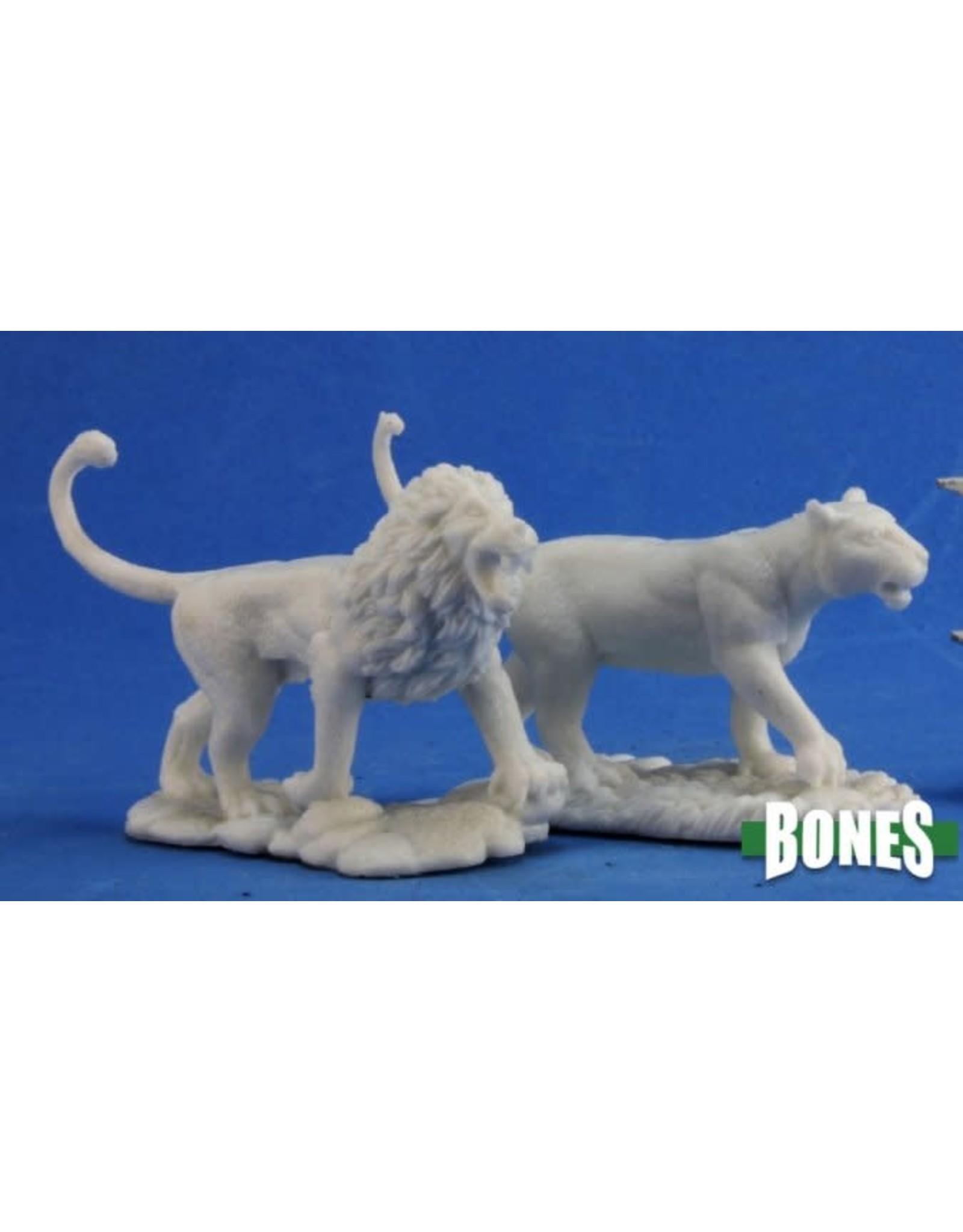 Reaper Miniatures Bones: Lions (2)