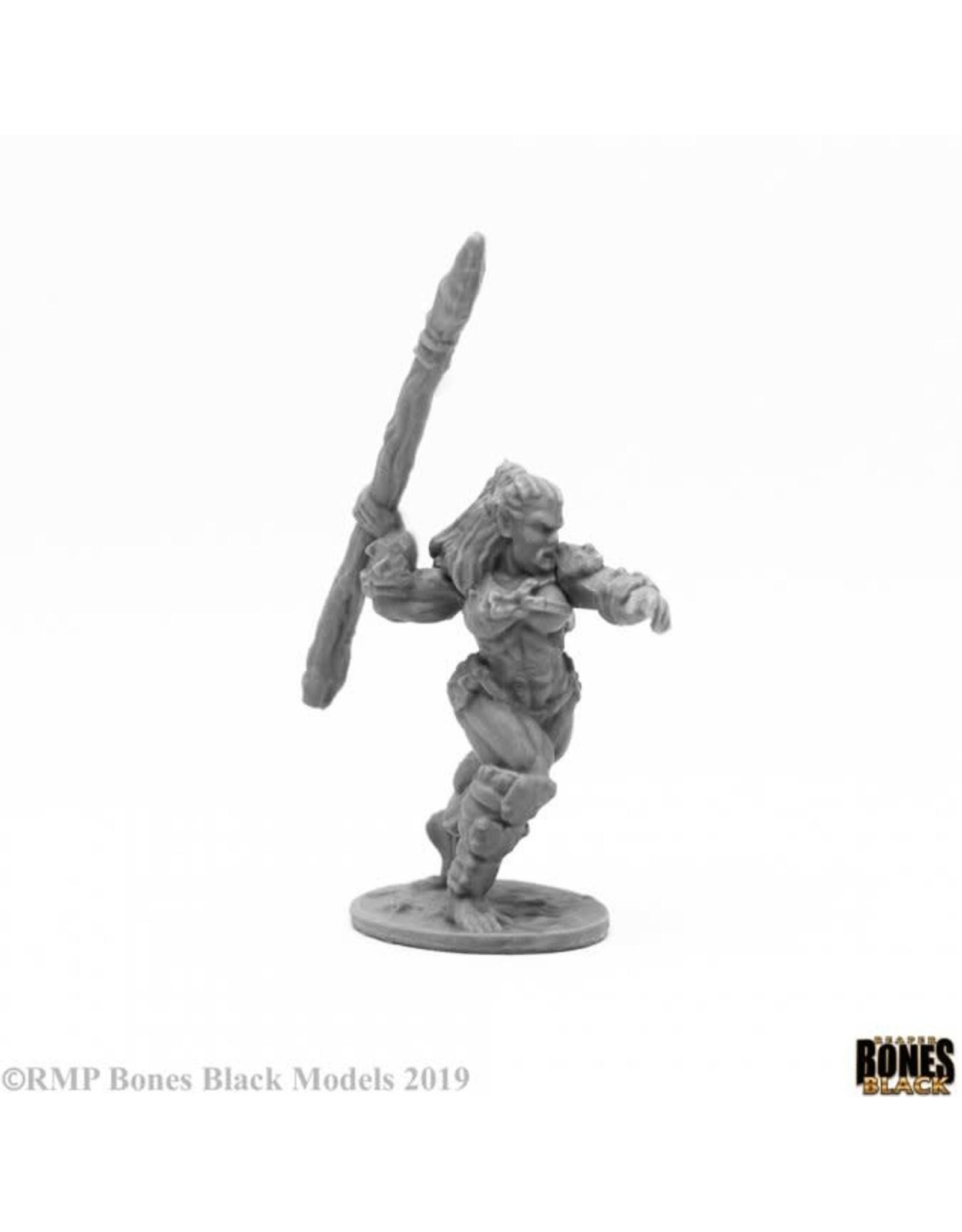 Reaper Miniatures Bones Black: Jade Fire Spearman
