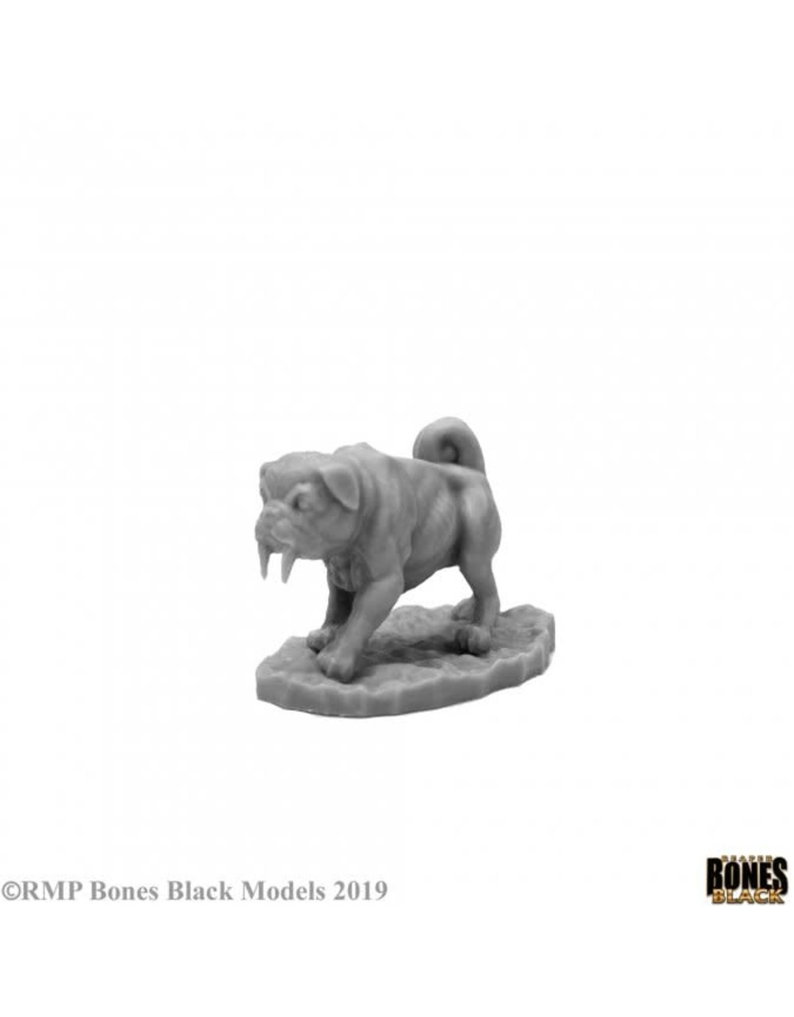 Reaper Miniatures Bones Black: Sabertooth Pug