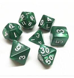 HD Dice, LLC. Pearlescent Green Poly Dice (7)