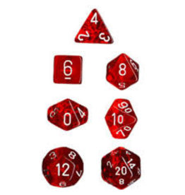 Chessex Translucent Poly Red/White (7)