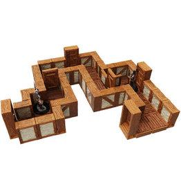 Wizkids Warlock Tiles:  Village Tiles Straight Walls