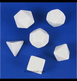 Chessex Blank White Dice tube (6)